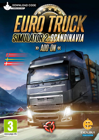 Euro Truck Simulator 2 - Scandinavian Add-on (PC) - Cover