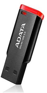 ADATA UV 140 16GB USB 3.0 Flash Drive - Black and Red - Cover