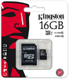 Kingston 16GB Micro SDHC UHS-I Memory Card + Adapter (Class 10)