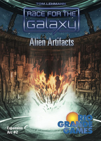 Race for the Galaxy - Alien Artifacts Expansion (Board Game) - Cover