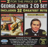 George Jones - 32 Greatest Hits (CD) - Cover