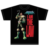 Anthrax I Am The Law Mens T-Shirt (Large) - Cover