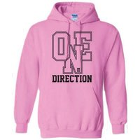 One Direction Athletic Logo Ladies Pouched Hoodie (Medium) - Cover
