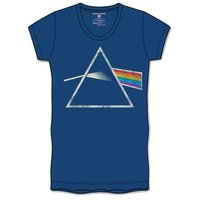 Pink Floyd DSOTM Back Print Navy Ladies T-Shirt (X-Large) - Cover