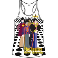 The Beatles Sea of Holes White Ladies Vest (X-Large) - Cover