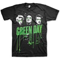 Green Day Drips Mens Black T-Shirt (X-Large) - Cover