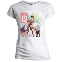 One Direction Colour Test Skinny White Ladies T-Shirt (Large) - Cover