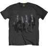 The Beatles Mens Walking In London on Logo Dark Grey T-Shirt (X-Large)