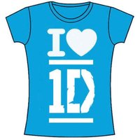 One Direction I Love Skinny Turquoise T-Shirt (Large) - Cover