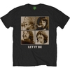 The Beatles  Mens Let It Be Sepia Black T-Shirt  Retail (X-Large) Cover