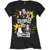 5 Seconds of Summer Punk Pop Photo Ladies Black T-Shirt (Large)