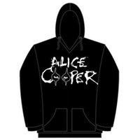 Alice Cooper Eyes Logo Mens Pouched Hoodie (Small) - Cover