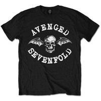 Avenged Sevenfold Classic Deathbat Black T-Shirt (XX-Large)