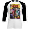 Marvel Comics Daredevil Comic Raglan Baseball Long Sleeve T-Shirt (X-Large)