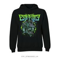 Escape The Fate Stressed Pullover Hoodie Black (Small) - Cover