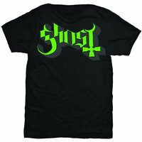 Ghost Green Grey Keyline Logo Mens T-Shirt (Small) - Cover
