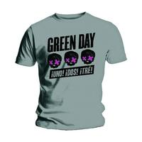 Green Day 3 Heads Better Than 1 Grey T-Shirt (Small) - Cover