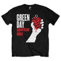 Green Day American Idiot Mens Black T-Shirt (Large) - Cover