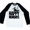 Happy Mondays Logo Raglan Baseball Long Sleeve T-Shirt (X-Large)