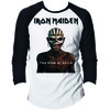 Iron Maiden Book Of Souls Raglan Baseball Long Sleeve T-Shirt (X-Large)