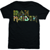 Iron Maiden Eddie Logo Mens Black T-Shirt (Small)