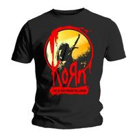 Korn Stage Mens Black T-Shirt (Small) - Cover