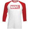 Marvel Comics Marvel Logo Raglan Baseball T-Shirt (Medium)