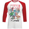 Marvel Comics Marvel Montage Raglan Baseball Long Sleeve T-Shirt (Medium)