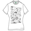 Moomins Moomin Falls In Love ? Comic Strip Ladies white T (Large)