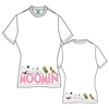 Moomins & Logo Ladies White T-Shirt  Large (Large)