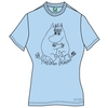 Moomins Wanna Dance Ladies light blue T-Shirt Small (Small)