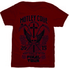 Motley Crue Final Tour Tattoo Mens Red T-Shirt (Medium)