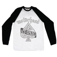 Motorhead Ace of Spades Raglan Baseball Long Sleeve T-Shirt (Medium) - Cover