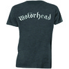 Motorhead Distressed Logo Mens Charcoal T-Shirt (Medium)