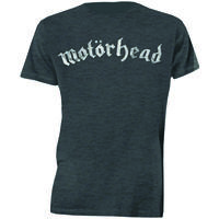 Motorhead Distressed Logo Mens Charcoal T-Shirt (XX-Large)