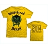Motorhead World Cup Brazil Mens Yellow T-Shirt (X-Large)