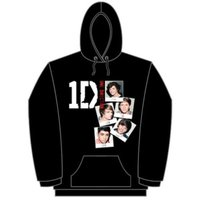 One Direction Photo Stack Black Ladies Hooded Top (Large) - Cover