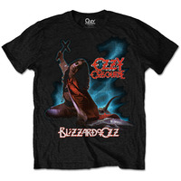 Ozzy Osbourne Blizzard of Ozz Mens Black T-Shirt (Small) - Cover