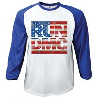 Run DMC Americana Logo Raglan Baseball Long Sleeve T-Shirt (Small) - Cover