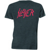 Slayer Distressed Logo Mens Charcoal T-Shirt (Small)