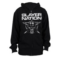 Slayer Slayer Nation Mens Zip Hoodie (Small) - Cover