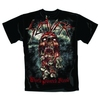 Slayer World Painted Blood Skull Mens T-Shirt (Small)