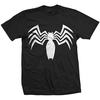Ultimate Spider-Man Venom Chest Logo Mens Black T-Shirt (Medium)