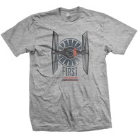 Star Wars First Order Distress Mens Grey T-Shirt (Large) - Cover