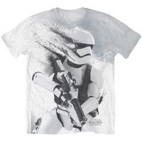 Star Wars Stormtrooper All Over Sub Mens White T-Shirt (X-Large)