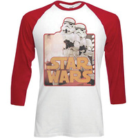 Star Wars Stormtroopers Raglan Baseball Long Sleeve T-Shirt (Medium) - Cover
