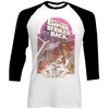 Star Wars The Empire Strikes Back Montage Raglan Baseball Long Sleeve T-Shirt (X-Large)
