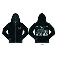 The Beatles Abbey Road Mens Hoodie  Black (X-Large) - Cover