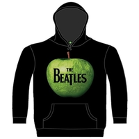 The Beatles Apple Hooded Top Black (Small) - Cover