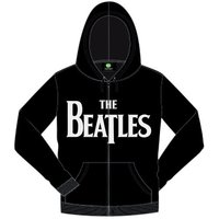 The Beatles Drop T Hooded Top Black (Medium) - Cover